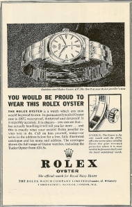Rolex advert RN Diving Magazine 1964