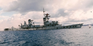 The former HMAS PERTH, scuttled in Albany, Western Australia, in November 2001